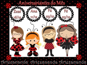 Aniversariantes do mes